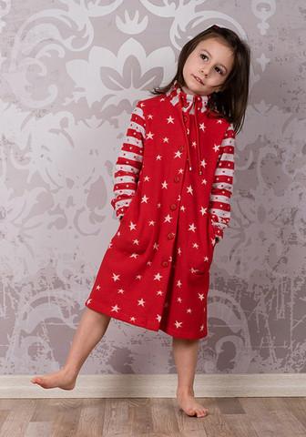 Красный халат для девочки
