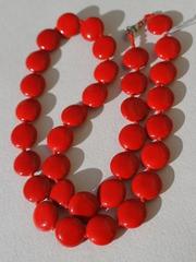 Круглые (бусы коралл красный)