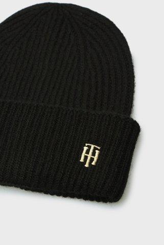 Женская черная шапка EFFORTLESS BEANIE Tommy Hilfiger