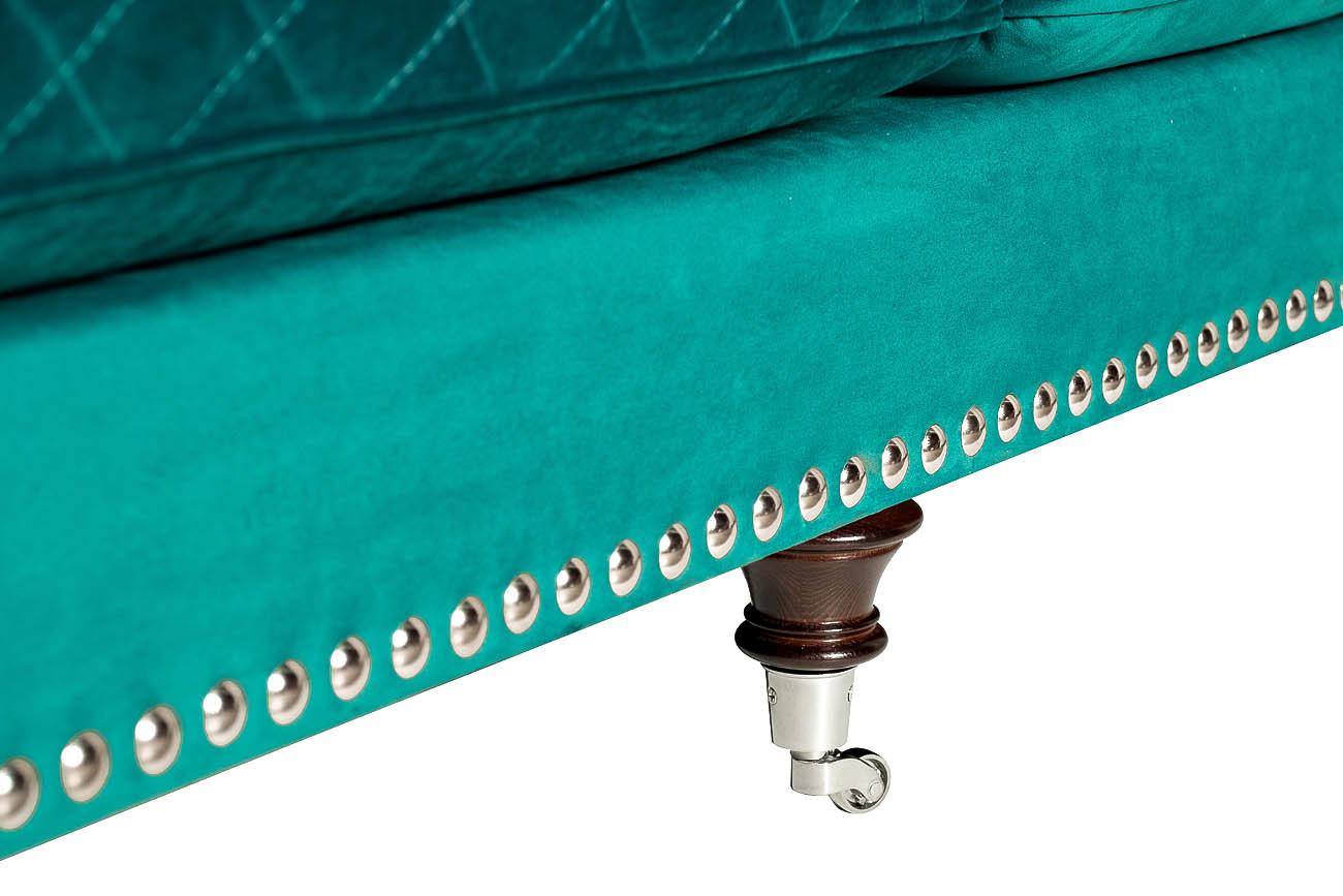 Диван Sorrento трехместный велюровый бирюзовый (SORRENTO2K-БИРЮЗА-Bel21) Garda Decor