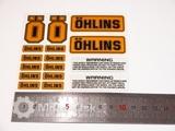Наклейки для амортизатора Ohlins комплект оранжевый малый