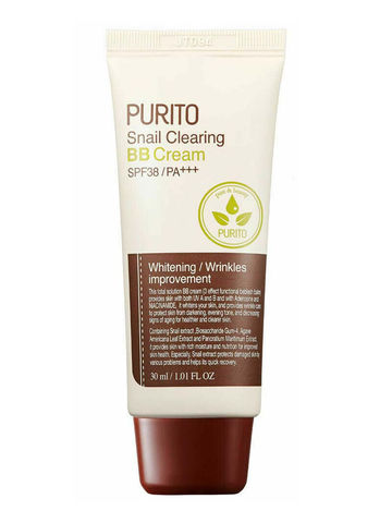 BB Крем С Муцином Улитки Тон 21 PURITO Snail Clearing BB Cream #21 Light Beige SPF38 PA+++