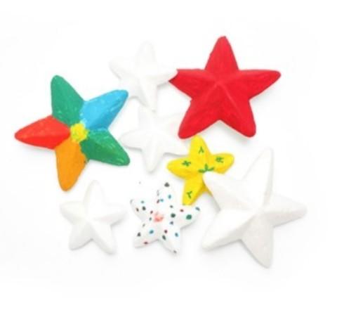 054-1622 Звезда из пенопласта, 3 шт. (6 см)