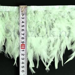 Купить оптом перья Индейки на ленте Light Mint светло-мятный