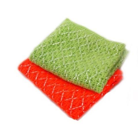 Скруббер для мытья посуды набор ( 24 х 20 ) SB SILVER ACRYLIC  SCRUBBER 2PC  2шт