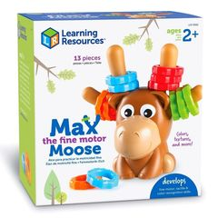 LER9092 Развивающая игрушка Лось Макс Learning Resources упаковка