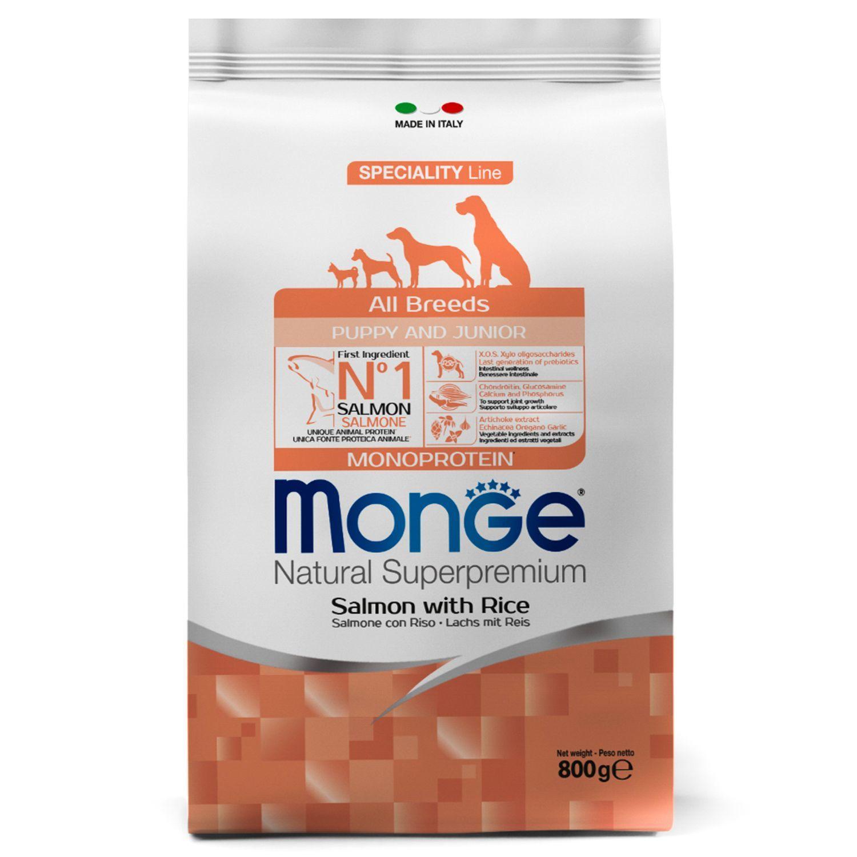 Сухой корм Корм для щенков Monge Dog Puppy&Junior с лососем и рисом 70011266_1.jpeg