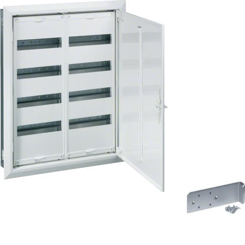 Щиток встраиваемый,секционный,с оснасткой,650x550x110мм (ВхШхГ),одна дверь,RAL9010