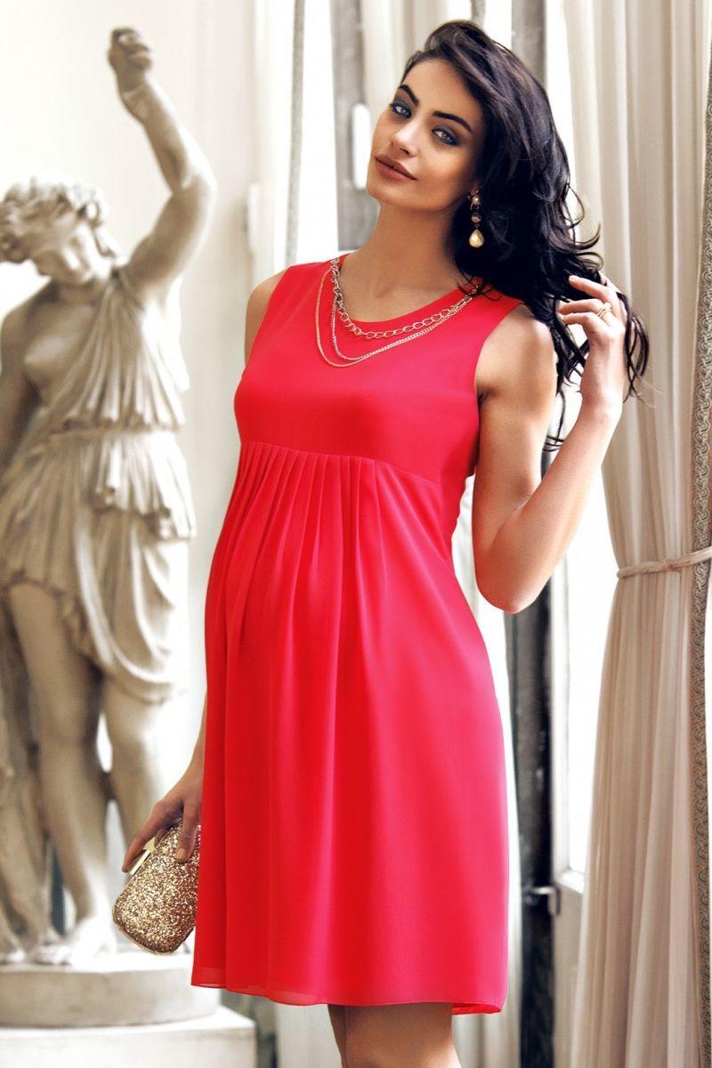Фото платье для беременных EBRU, трикотажное от магазина СкороМама, красный, размеры.