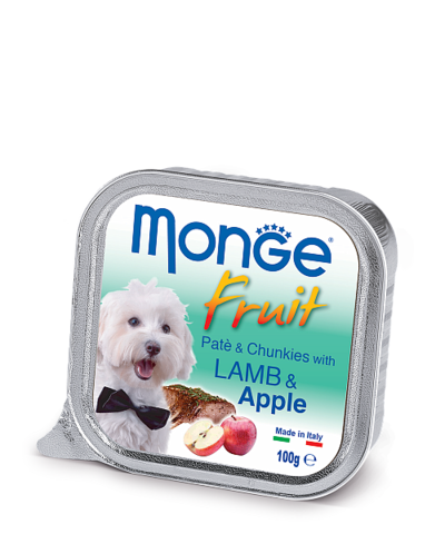 Monge Dog Fruit All Breeds Pate&Chunkies with Lamb&Apple