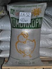 Комбикорм ДК-52 для перепелов, Богдановичский комбикормовый завод