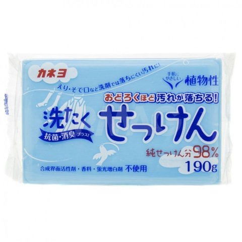 Мыло хоз. с антибак.эффектом Kaneyo для удаления стойких пятен с одежды 98% жирных кислот 190 гр