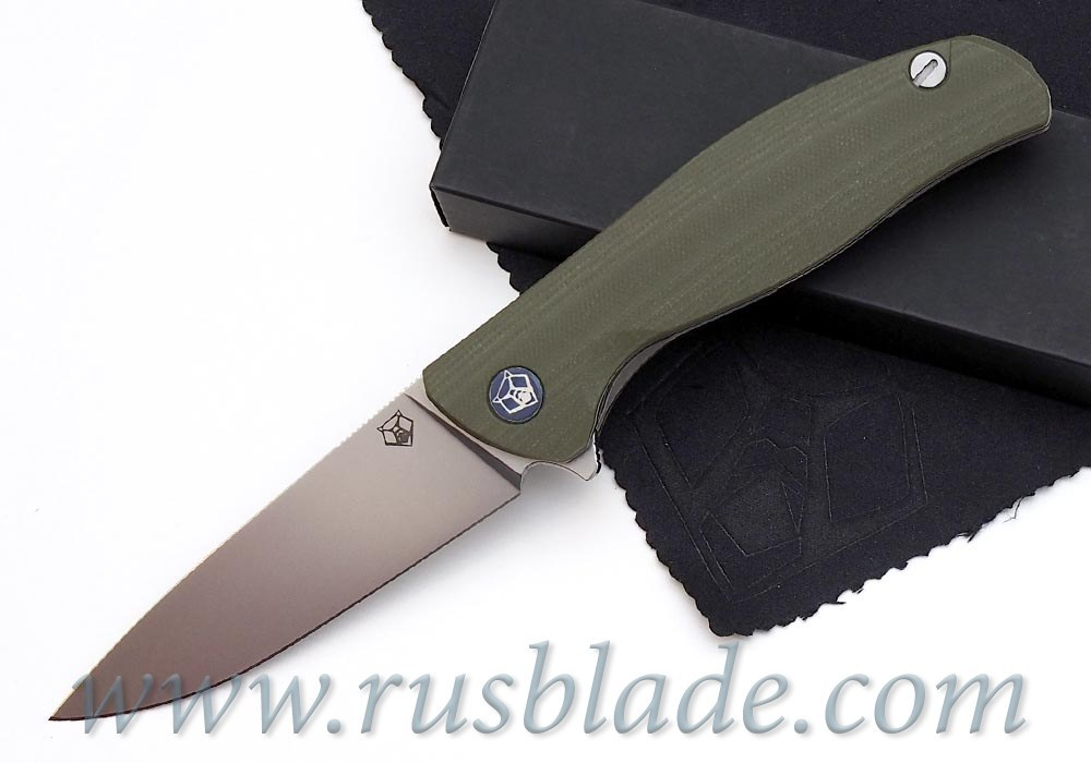 Shirogorov F3 S30V G10 olive w/bearings