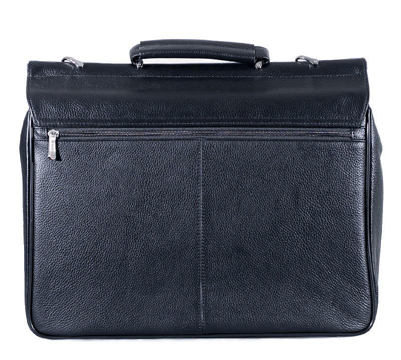 Мужской кожаный портфель Prensiti 009-239 black
