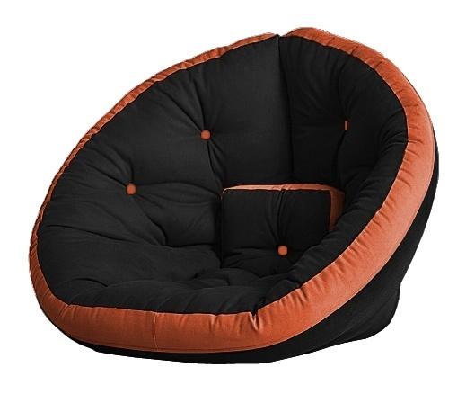 Универсальные кресла Кресло Farla Lounge Чёрное с оранжевым bl_ora_ora.jpg