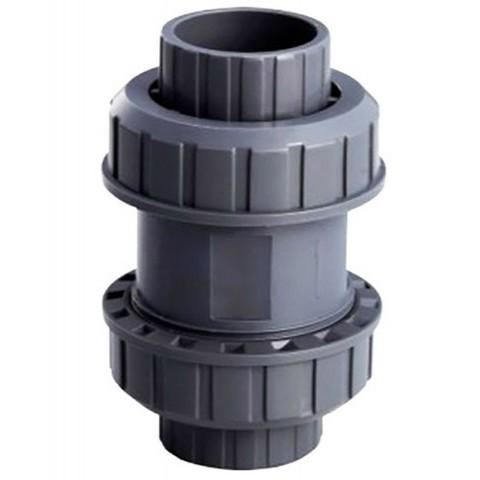 Обратный клапан ПВХ 1,0 МПа диаметр 50 (без пружины) PoolKing