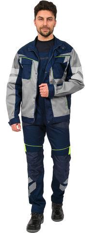 Куртка Профлайн Специалист укор.мужс., серый/т.син.