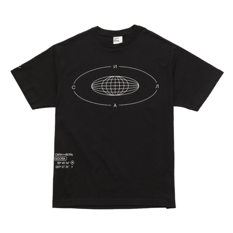 Черная футболка «Сила»