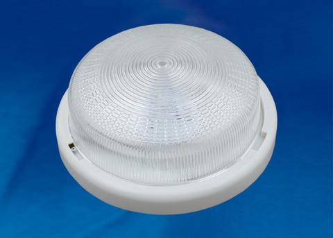 ULO-K05B 12W/6000K/R24 IP44 WHITE/GLASS Светильник светодиодный накладной. Дневной белый свет (6000K). 1200Лм. Диаметр 240мм. Корпус белый. ТМ Uniel.