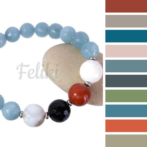 с чем носить голубой браслет, цветовая шпаргалка