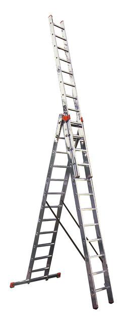 Трехсекционная универсальная лестница с допфункцией TRIBILO 3х10