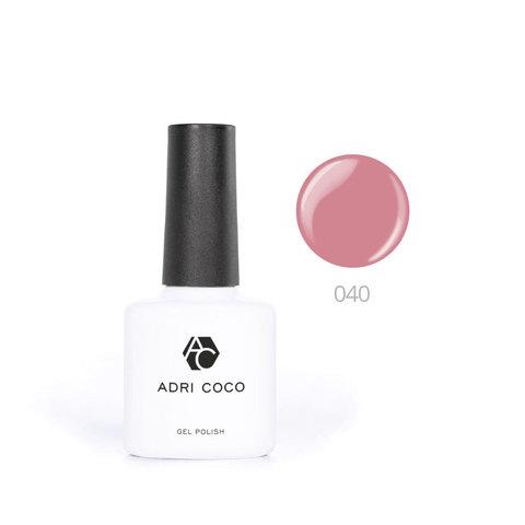 Цветной гель-лак ADRICOCO №040 пыльно-розовый (8 мл.)