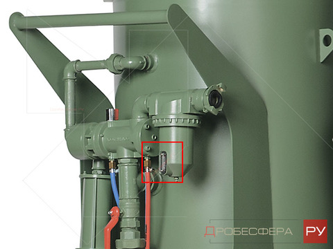 Стекло смотровое для фильтра пескоструйного аппарата CAF-3