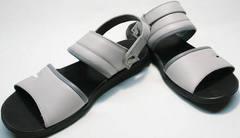 Кожаные мужские босоножки серые Ikoc 3294-3 Gray.
