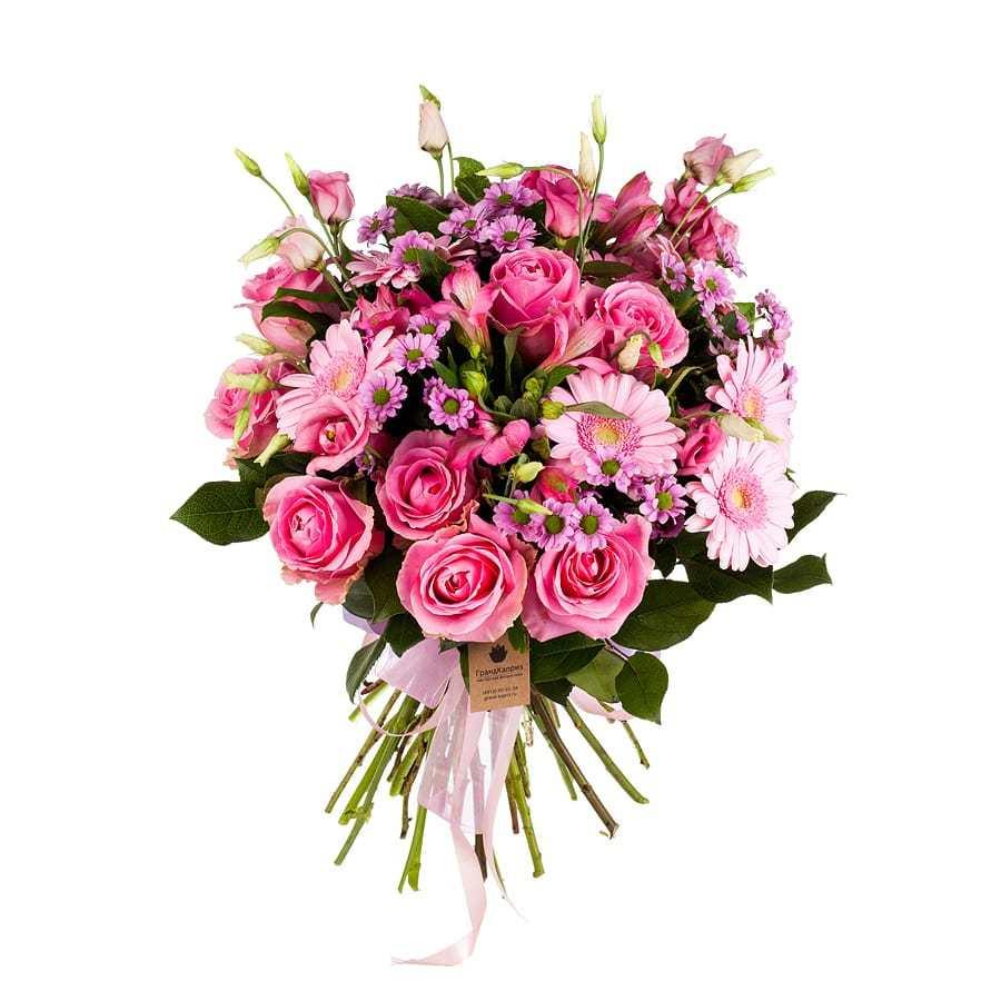Букет из роз и гербер - Сказочная нимфа