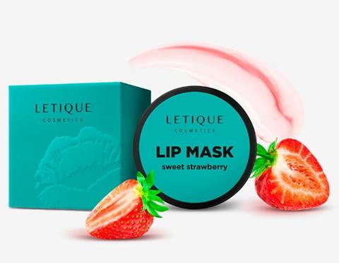 Letique Маска для губ с ароматом сладкой клубники Lip Mask - Sweet Strawberry