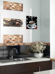 Часы настенные кухонные ЧЗ ИДЕАЛ с изображением кофе