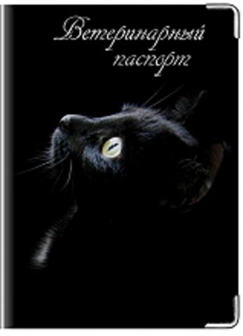 """Обложка для ветеринарного паспорта """"Чёрная кошка"""""""