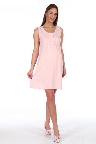 Мамаландия. Сорочка для беременных и кормящих с кнопками, розовый вид 1
