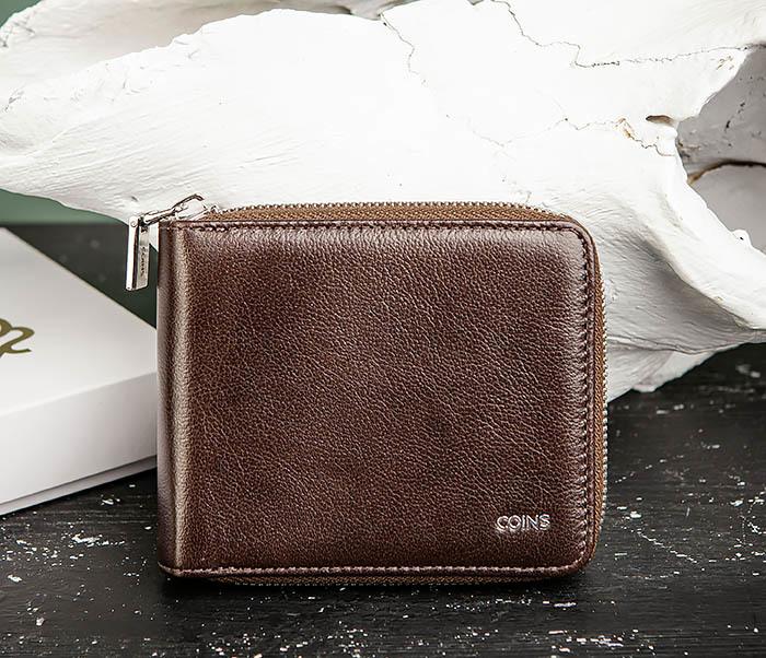 WL324-2 Мужское портмоне из кожи на молнии, «Atos» фото 02