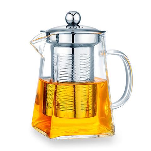 Чайник заварочный стеклянный квадратный с фильтром 950 мл