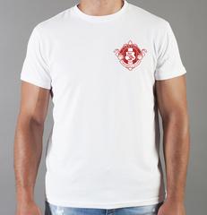 Футболка с принтом FC Liverpool (ФК Ливерпуль) белая 0016