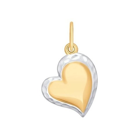 035036 - Подвеска из золота с алмазной гранью