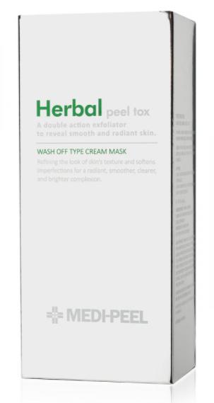 MEDI-PEEL Herbal Peel Tox Wash Off Type Cream Mask очищающая пилинг-маска с эффектом детокса 120г