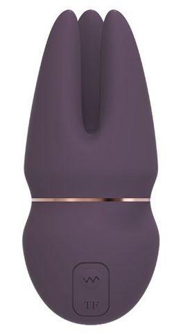 Фиолетовый клиторальный стимулятор SAGA