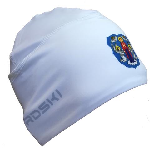 Шапочка для снежного снайпера белая с логотипом МИНСК Nordski Warm white