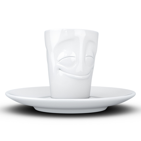 Кофейная чашка с блюдцем Tassen Cheery 80 мл белая