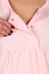 Мамаландия. Сорочка для беременных и кормящих с кнопками, розовый вид 4