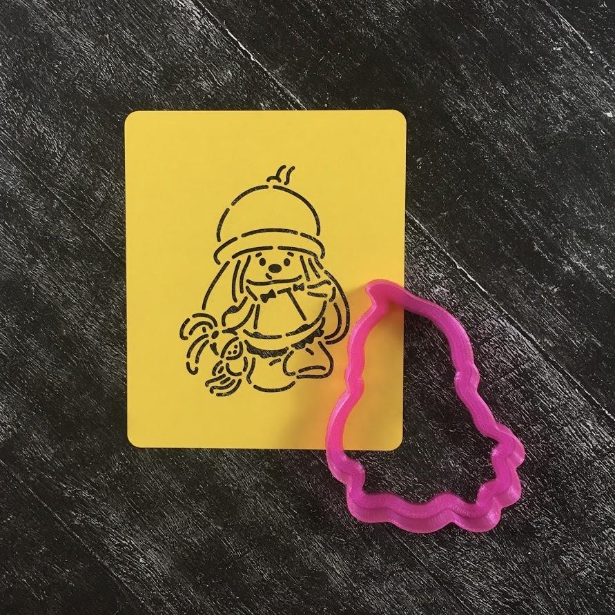 Зайка с игрушкой №2