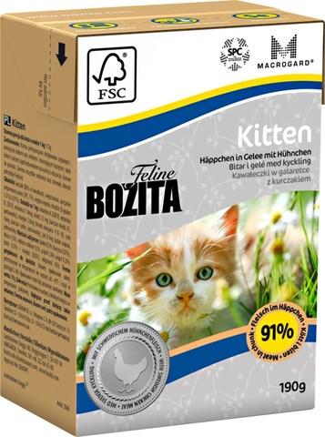 Bozita Feline Funktion Kitten Tetra Pak Консервы для котят, беременных и кормящих кошек с курицей