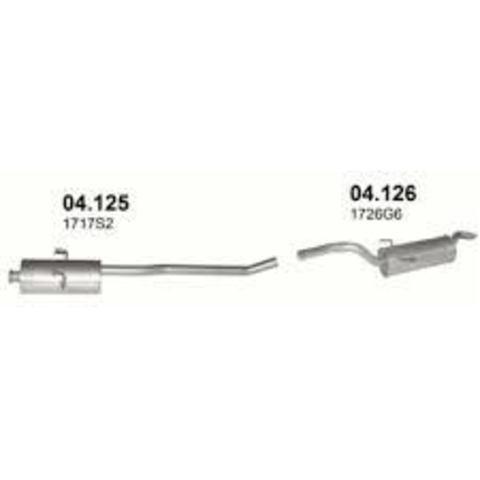 глушитель Citroen Jumpy 1.6i 95-; 1.9D 99-00;  Fiat Scudo 1.6i.e 95-03; 1.9D 98-00;  Peugeot Expert 1.6i 95-; 1.9D 99-00