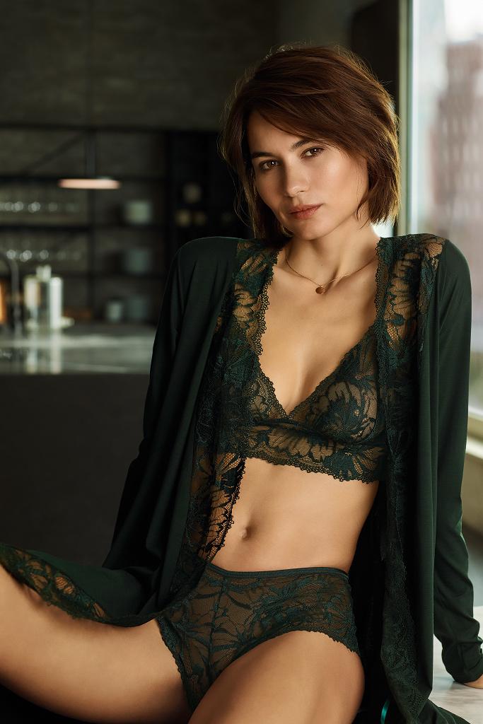 Элитный женский халат с кружевом Zimmerli