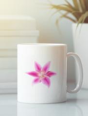 Кружка с изображением  Цветы (Лилии) белая 005