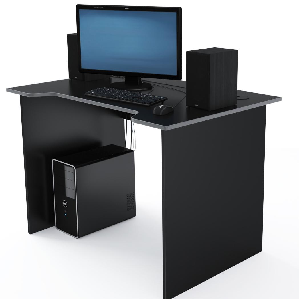 Стол Компьютерный Jedi 1100 Черный/Серый