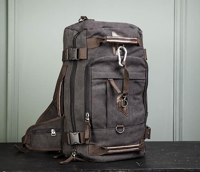 BAG479-1 Большой рюкзак трансформер из текстиля