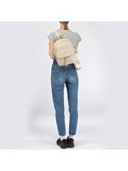 Бежевый рюкзак из искуственной кожи